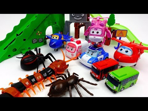 Thumbnail: Go Super Wings & Robocar Poli~! Defeat Giant Monsters