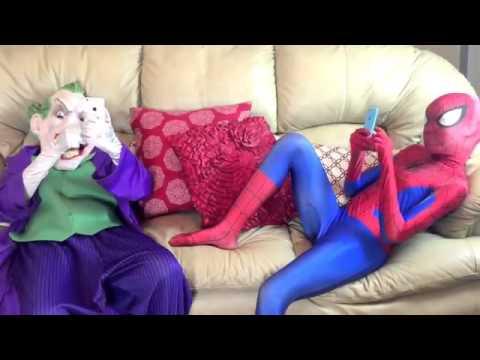 Download Joker vs Pink Spidergirl / Boom Boom Balloon! - w/ Gorilla Game Night! / Funny Superheroes