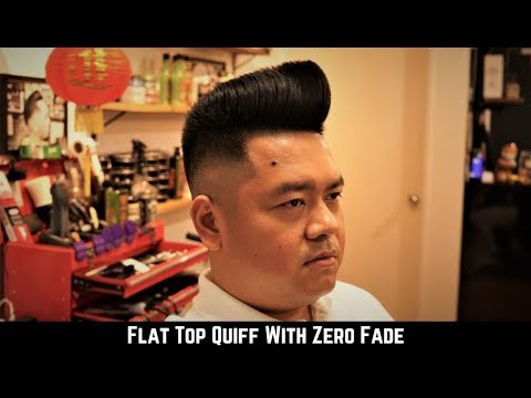 Flat Top Quiff With Zero Fade Mens Haircut 2018 Youtube