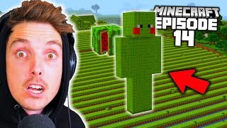I Built an EVEN BIGGER Melon Farm Than LazarBeam! (Minecraft Let's Play #14)