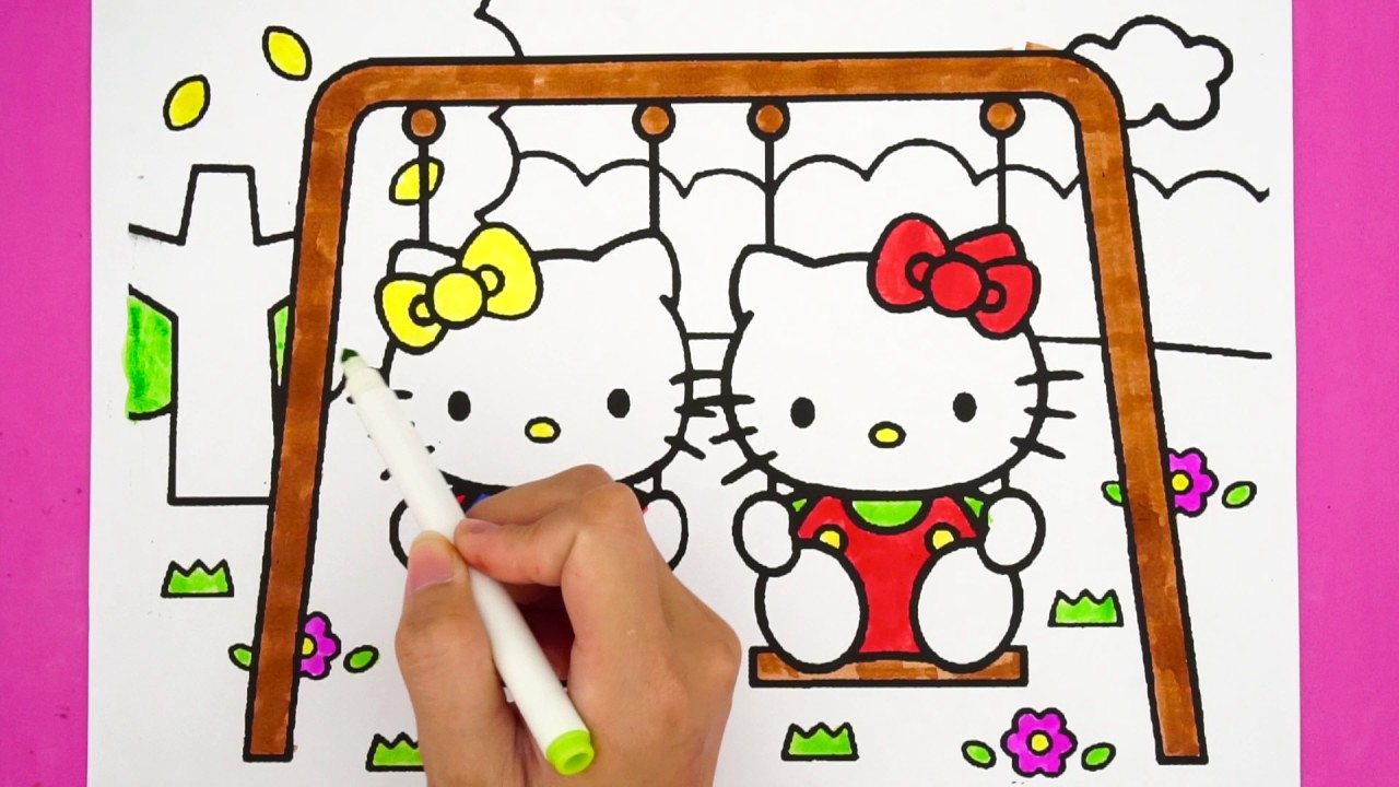 Coloring pages hello kitty and mimmy coloring for kids