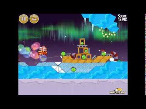 Angry Birds Seasons Winter Wonderham 1-16 Walkthrough 3-Star
