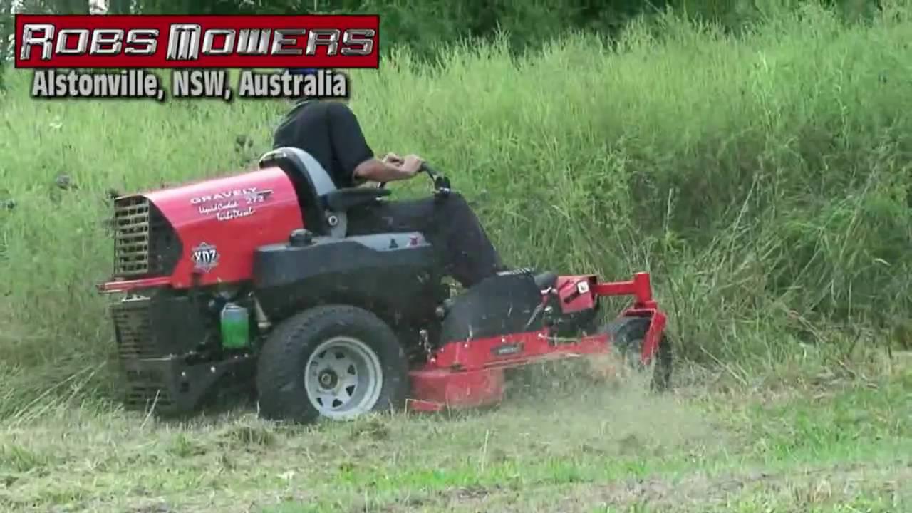 Gravely Zero Turn Slashing Tall Grass At Robs Mowers