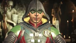 INJUSTICE 2: All Robin Intros (Dialogue & Character Banter) 1080p HD