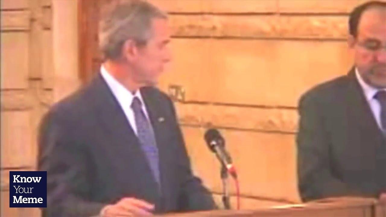 Know Your Meme George W Bush Shoe Throw Youtube
