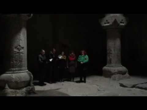 Coro polifonico a Geghard - fam-trip Armenia Travel