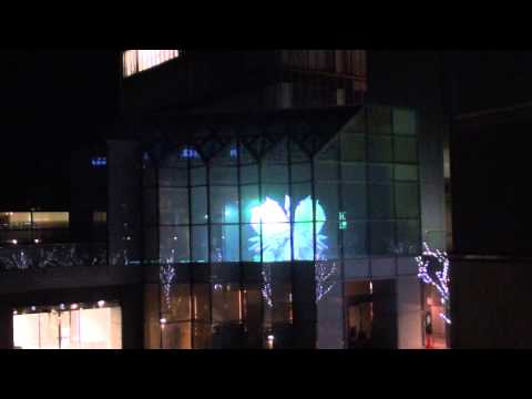 OKAYAMA CONVENTION CENTER 3D PROJECTION GLASS MAPPING 01