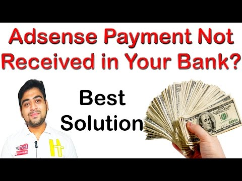 Adsense Payment || Not Received in Your Bank || So What is Solution? || Hindi