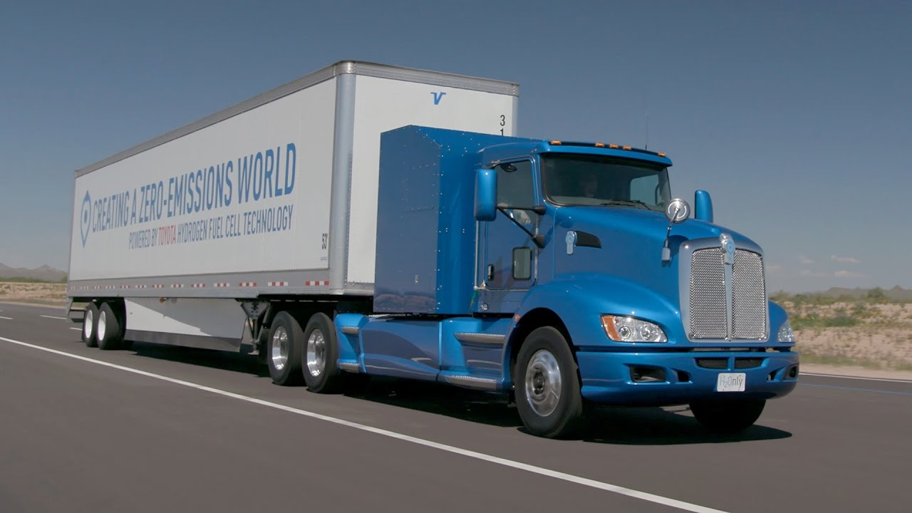 Toyota Project Portal Hydrogen Fuel Cell Truck Youtube