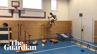 'Parkour 3.0': freestyle skier masters elaborate obstacle course