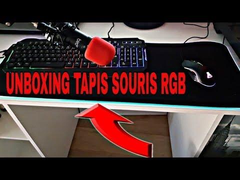 Unboxing Tapis Souris Gaming Rgb Xxl Mousse Anti Pop Fr Youtube