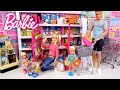 Barbie & Ken Family Supermarket Shopping - Titi Toys Dolls