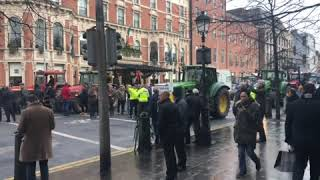 Dublin tractor protest draws to a close