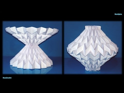 Tutorial 13 Pattern Miura Paper Sculpture Reversible