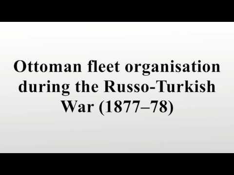 Ottoman fleet organisation during the Russo-Turkish War (1877–78)