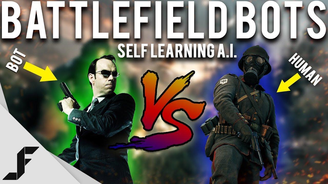 MAN VS MACHINE - Battlefield 1 Bots ( Self Learning A.I. )