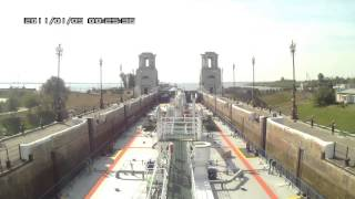 Волго-Донской канал. Шлюзование и расхождение нефтеналивного судна