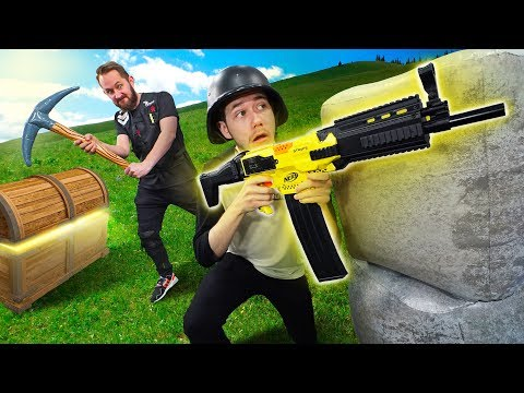 NERF Fortnite Battle Royale Challenge!