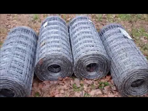 Homemade Woven Wire Unroller ~ Field Fencing De Reeler - YouTube