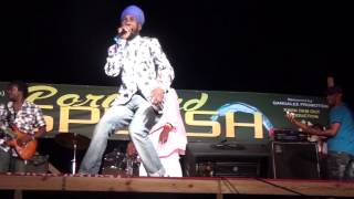 Sizzla kalonji & Capleton performing at a stage show 2015