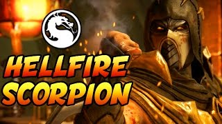 "Mortal Kombat X: INJUSTICE HELLFIRE SCORPION! - Mortal Kombat XL ""Scorpion"" Gameplay"