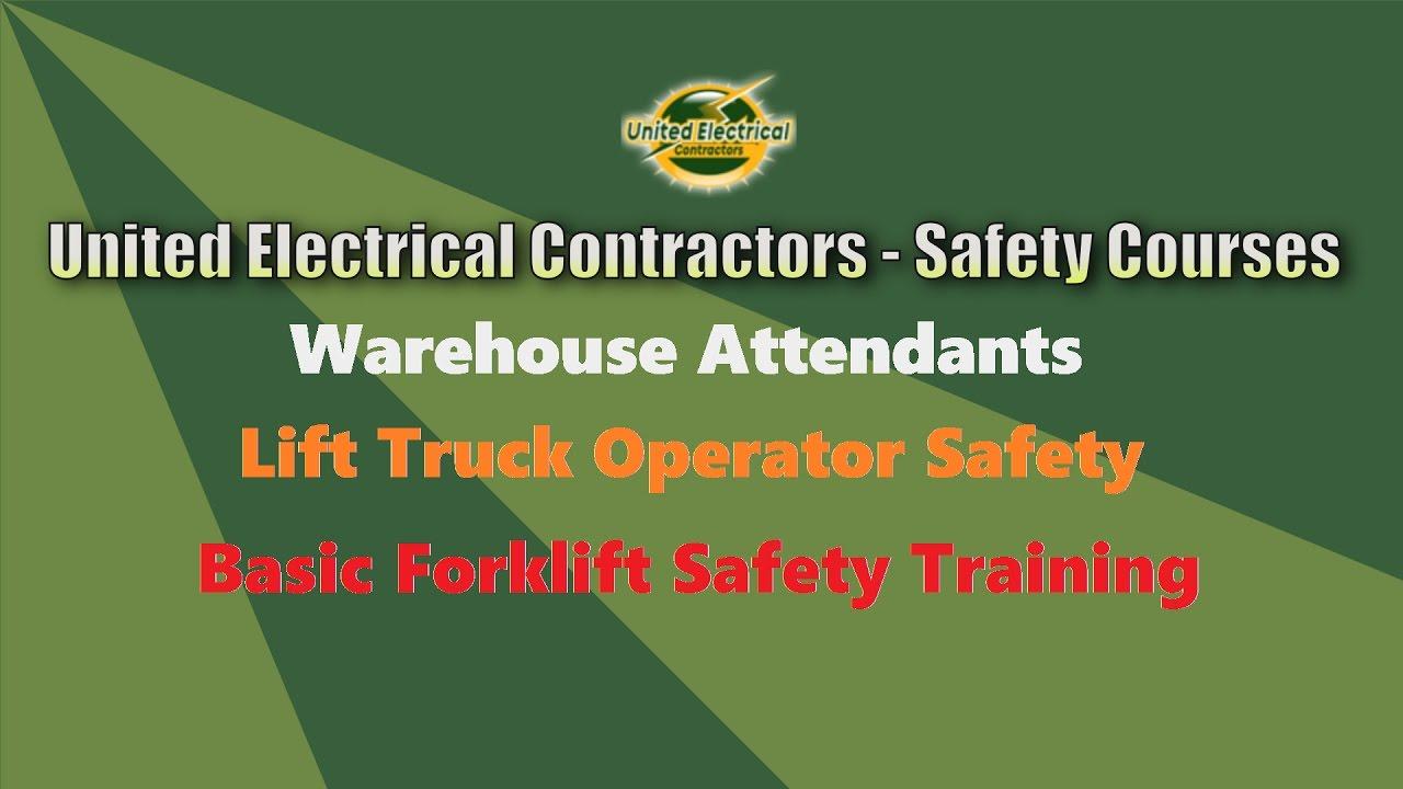 Basic Forklift Safety Training Youtube
