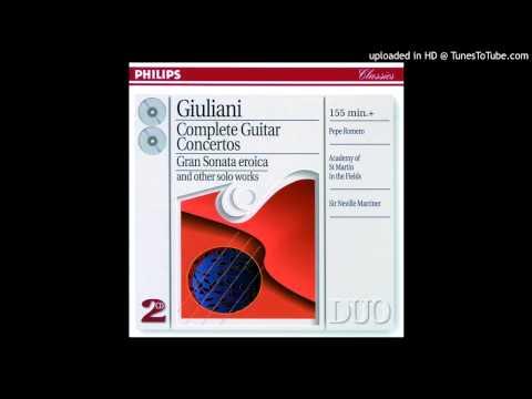 Concerto No. 3 in F, Op. 70: I. Allegro Moderato - Giuliani - Pepe Romero