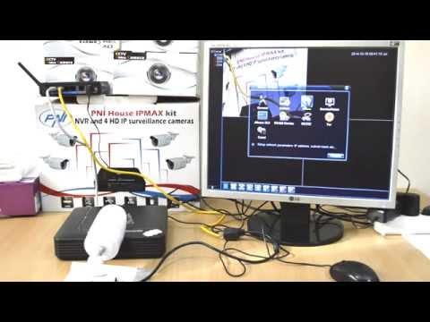 Kit PNI House IPMAX - NVR IP ONVIF si 4 camere HD cu IP 720P