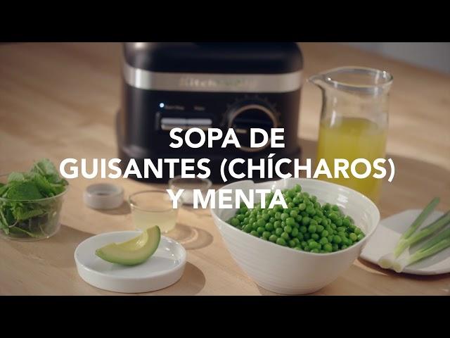 Sopa de guisantes (chícharos) y menta