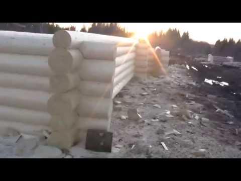 Срубы из зимнего Северного леса с доставкой