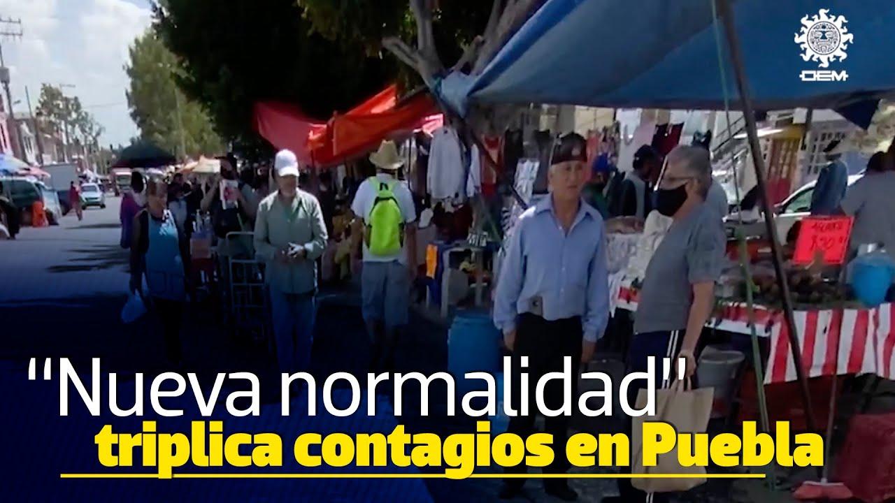 Se triplican contagios y muertes por coronavirus en la nueva normalidad en Puebla