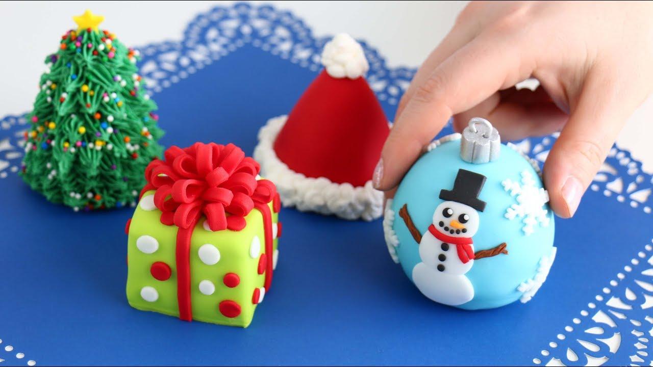 Mini Christmas Cakes Cutest Cakes Everrr Youtube