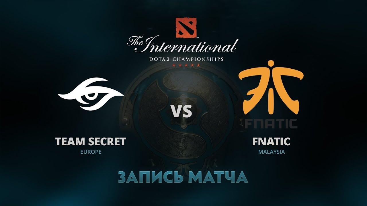 Team Secret против Fnatic, Вторая игра, Групповой этап The International 7