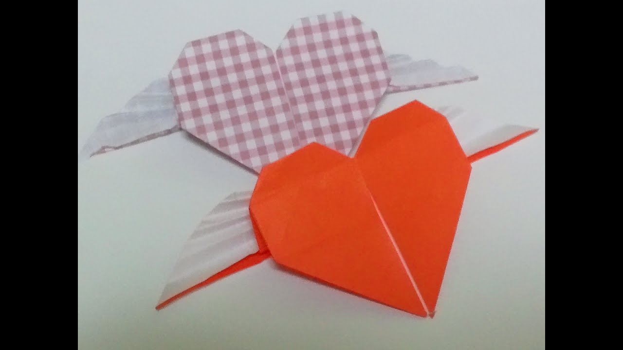 Great Origami-how to make paper angel heart(wing heart ... - photo#46
