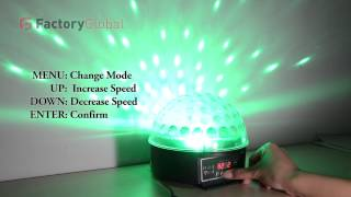 h8383 mini led stage light rgb crystal magic ball effect light 6ch dmx 512 control pannel