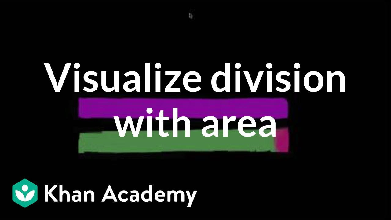 Division with area models (video) | Khan Academy
