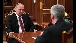 Смотреть видео В.Путин поправил Собянина,