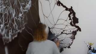 Роспись стен Кружевной 3D Цветок(Нестандартный декор стен, потолков, реставрация мебели с помощью художественных приёмов и современных..., 2014-02-16T20:37:00.000Z)