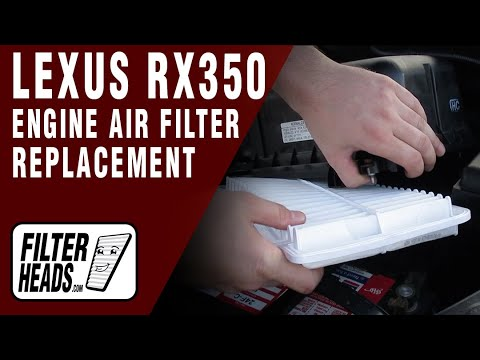 how to replace engine air filter 2007 2009 lexus rx350 v6 3 5l youtube. Black Bedroom Furniture Sets. Home Design Ideas