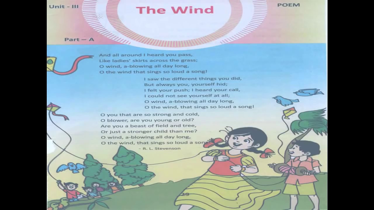 4th Class The Wind poem - YouTube