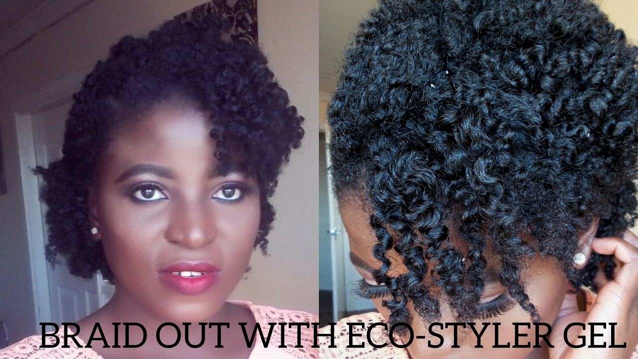 Hair Style Gel: DEFINED BRAIDOUT WITH ECO-STYLER GEL ON MY SHORT 4C