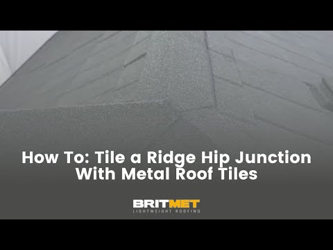 How to tile a roof with lightweight metal roof tiles: Ridge Hip Junction