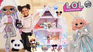 L.O.L. surprise! Winter Disco le Chalet et les nouvelles poupées OMG , Fluffy pets ,Winter globe