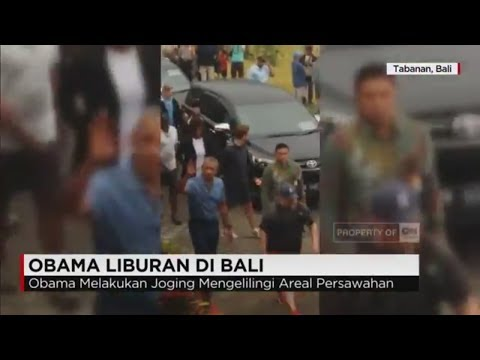 Obama Jogging di Persawahan Bali, Warga & Wisatawan Antusias