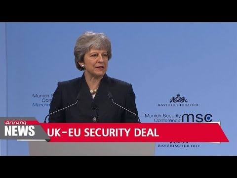 British PM wants new security treaty with EU from 2019
