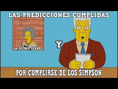 LAS PREDICCIONES CUMPLIDAS Y POR CUMPLIRSE SIMPSON