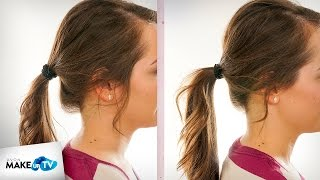 Jak upiąć włosy w wysoki kucyk - trik Mileny