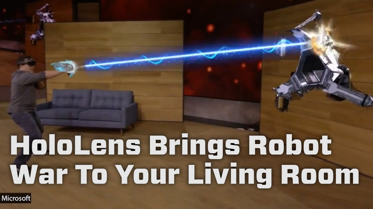 HoloLens Video Game Brings Robot War To Your Living Room