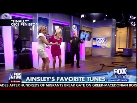 Heather Nauert & Ainsley Earhardt dancing  2/29/16