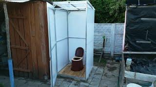 Обзор туалета для дачи Престиж (металл+поликарбонат)